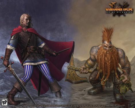 Grafika promująca (dogorywające) Warhammer Online
